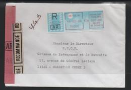 20/01 Lettre Recommandee  + AR CRETEIL 94000 Tarif 20,00 Francs - Marcofilia (sobres)