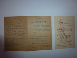 PETIT DEPLIANT AVEC SA CARTE POSTALE DE 1918 EMPRUNT DE LA LIBERATION DEPARTEMENT DE LA SEINE INFERIEURE - Historische Documenten