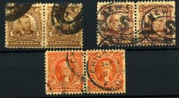Estados Unidos Nº 147, 151, 154. Año 1902/03 - Usados