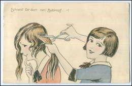 Y1908/ Kinder Schneiden Haare  Friseur AK 1930 - Mestieri