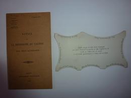 RARE LIVRET DE 23 PAGES AVEC SA JAUGE NOTICE SUR LA RECHERCHE DU CALIBRE DES OBUS ALLEMANDS 1917 - Historische Documenten