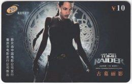 CHINA E-443 Prepaid ChinaTelecom - Cinema, Tomb Raider - Used - China