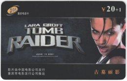 CHINA E-448 Prepaid ChinaTelecom - Cinema, Tomb Raider - Used - China