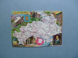 Carte Département  Des HAUTES  ALPES  -  05  -  Illustration PINCHON  - Carte  Géographique  - - Autres Communes
