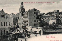 Piazza  Del  Mercato  Col  Monumento  Ad  Andrea  Carli. - San Remo