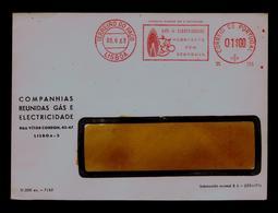 "Gás+Electricity Company= Confortable Economy "" EMA 1$00 Portugal 1963 Energies Electricity Sp6386 - Elettricità"