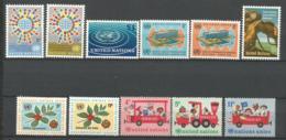 ONU SIEGE DE NEW YORK ANNEE 1966 N°148 A 158 NEUFS** MNH - ONU