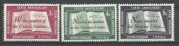 ONU SIEGE DE NEW YORK ANNEE 1955 N° 35 A 37 NEUFS** MNH - ONU