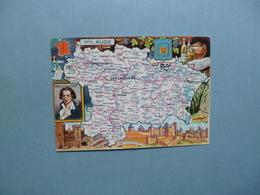 Carte Département  De L'AUDE  -  11  -  Illustration PINCHON  - Carte Géographique  - - France