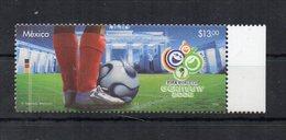 Messico - 2006 - Francobollo Tematica Calcio - Coppa Del Mondo Germania 06 - Nuovo Con Bordo Di Foglio  ** - (FDC19046) - Messico
