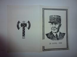 TRACT D'EPOQUE DISCOURS DU MARECHAL PHILIPPE PETAIN S'ADRESSANT AUX FRANCAIS DU 28 AVRIL 1944 - Historische Documenten