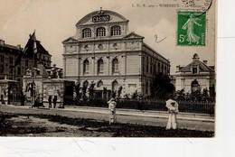 Wimereux Le Casino  ( Près De Boulogne , Femme Avec Ombrelle - Other Municipalities