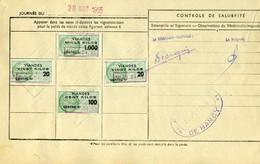 Timbre Fiscal (fiscaux) - Viandes 1955  N° 53 + Autres Sur Document - Peu Courant - Fiscales