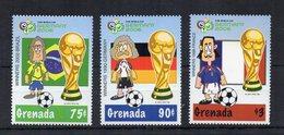 Grenada - 2006 - Francobolli Tematica Calcio - Coppa Del Mondo Germania 06 - 3 Valori - Nuovi  ** - (FDC19047) - Grenada (1974-...)