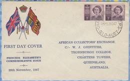 Australia FDC - 1947 - Princess Elizabeth - Lettres & Documents