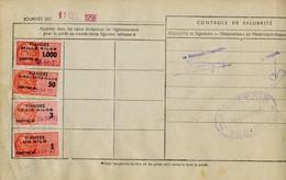 Timbre Fiscal (fiscaux) - Viandes 1956  N° 71 + Autres Sur Document - Peu Courant - Fiscales