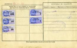 Timbre Fiscal (fiscaux) - Viandes 1957  N° 89 + Autres Sur Document - Peu Courant - Fiscales