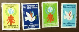 Cote D'Ivoire  N°Yv. 489 à 492  Année De L'enfant 1979 JAHR DES KINDES YEAR OF THE CHILD ** MNH #5145 - Côte D'Ivoire (1960-...)