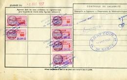 Timbre Fiscal (fiscaux) - Viandes 1957  N° 98 + Autres Sur Document - Peu Courant - Fiscales