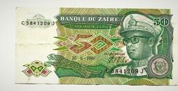 """50 Zaïres     """"ZAÏRE """"   30 6 1988      Ro1 - Zaire"""