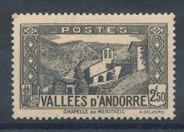 Andorre  N°86* Chapelle De Meritxell Cote 9,30€ - Andorre Français