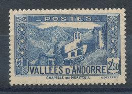Andorre  N°87* Chapelle De Meritxell Cote 2,50€ - Andorre Français
