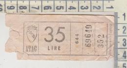 Biglietto Ticket Atac Lire 35 - Bus