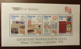 Italien 1997  2483/86 Block 16  ITALIA '98, Mailand, ITALIA '98  Milano  ** MNH #5151 - 6. 1946-.. Repubblica