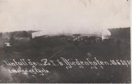 57 - THIONVILLE - CHUTE DU ZEPPELIN Z I 6 A BEAUREGARD LE 13.06.1914 - PHOTO/CARTE - Thionville