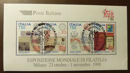 Italien 1997  2483/86 Block 16  ITALIA '98, Mailand, ITALIA '98  Milano  ESST Used  #5151 - Blocks & Kleinbögen