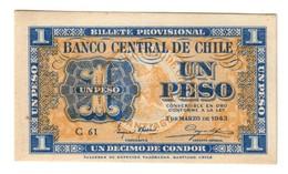CHILE1PESO1943P90UNC.CV. - Cile