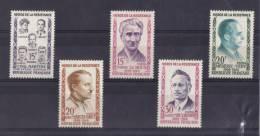 HEROS DE LA RESISTANCE SERIE N° 1198/1202 NEUF** - Unused Stamps