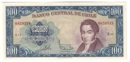 CHILE100ESCUDOS1962P141UNC.CV. - Chili