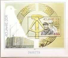 DDR - Foglietto Nuovo MICHEL Block 100: 40 Anni Della Repubblica Democratica Tedesca  - 1989 * G - Nuovi