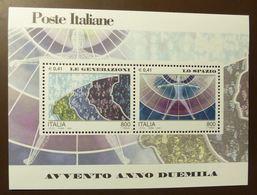 ITALIA REPUBBLICA ITALY REPUBLIC 2000 AVVENTO DEL 2000 LE GENERAZIONI LO SPAZIO BLOCCO FOGLIETTO BLOCK  **  #5154 - Blocks & Kleinbögen