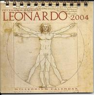 7-CALENDARRIO DA TAVOLO-2004 LEONARDO UOMO VITRUVIANO - Calendari