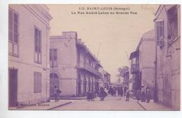 SAINT LOUIS (SENEGAL) - LA RUE ANDRE LEBON OU GRANDE RUE - Sénégal