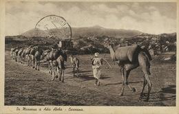 Da Massaua A Adis Abeba Caravana . Caravane De Chameaux . Camel  Asmara Ferrovia To Budapest - Erythrée