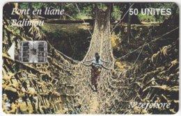 GUINEA A-013 Chip SoTelGui - Culture, Traditional Suspension Bridge - Used - Guinea