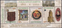 Hungary (Sc# 3793) MNH (Complete Set Sheet Of Founding Of The Hungarian Nation Museum Scezchenyi Library (2002) - Ungheria