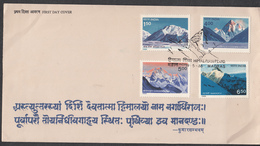India, 1988, FDC, Mountains, Himalayan Peaks, MADRAS  Cancellation - FDC