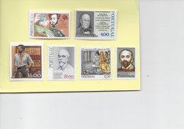 TIMBRES - STAMPS - SELLOS - FRANCOBOLLI -  PORTUGAL - 6 TIMBRES DIVERS NEUFS - MHN - 1910-... República