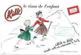 BUVARD BLOTTING PAPER KILK LE TISSU ENFANT TAMPON CHATEAUBRIANT 44 - Textile & Vestimentaire