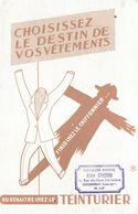 BUVARD BLOTTING PAPER COMMERCE TEINTURIER VÊTEMENTS TAMPON CHATEAUBRIANT 44 - Textile & Vestimentaire