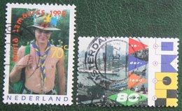 PFADFINDER, SCOUTISM, JAMBOREE + SAIL NVPH 1647-1648 (Mi 1547-1548); 1995 Gestempeld / Used NEDERLAND / NIEDERLANDE - 1980-... (Beatrix)