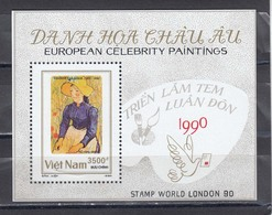Vietnam 1990 - Paintings, Mi-Nr. Block 75, Dent., MNH** - Viêt-Nam