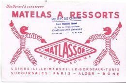 BUVARD BLOTTING PAPER MATELAS A RESSORT MATLASSOR + USINES TAMPON CHATEAUBRIANT 44 - Textile & Vestimentaire