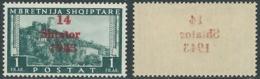 1943 OCCUPAZIONE TEDESCA ALBANIA 1 F DECALCO MNH ** - RB41-6 - Occ. Allemande: Albanie