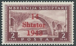 1943 OCCUPAZIONE TEDESCA ALBANIA 2 F MNH ** - RB41-6 - Occ. Allemande: Albanie