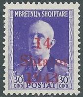 1943 OCCUPAZIONE TEDESCA ALBANIA EFFIGIE 30 Q MNH ** - RB37-5 - Occ. Allemande: Albanie